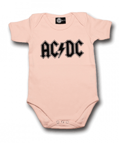AC/DC Baby Grow Logo Pink