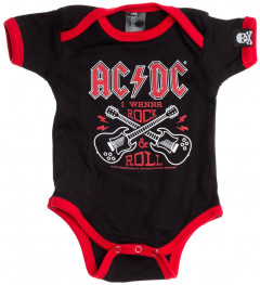 ACDC onesie Baby Creeper Rock 'n Roll