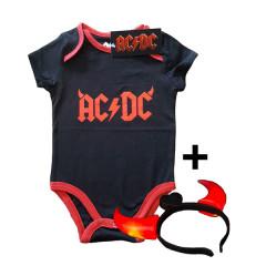 AC/DC Devil Horns Baby Grow