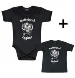 Giftset Motörhead Baby Grow England & Motörhead Baby T-shirt England