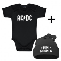 Infant Giftset AC/DC Creeper infant/baby & Mini Rocker Hat