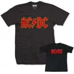Duo Rockset AC/DC Father's T-shirt & Baby T-Shirt Logo Colour