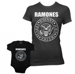 Duo Rockset Ramones Mother's T-shirt & Ramones Onesie Baby