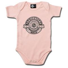 Foo Fighters Baby Grow Logo Pink