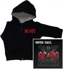 Baby Hoodies ACDC Black Ice Zip