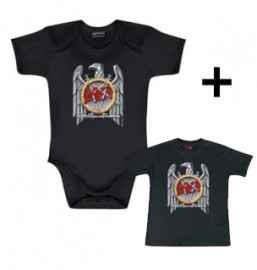 Giftset Slayer Baby Grow Silver Eagle & Slayer Baby T-shirt Silver Eagle
