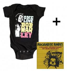 Baby rock giftset Bob Marley Baby Onesie Smile & CD