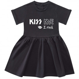 Kiss me I rock baby dress