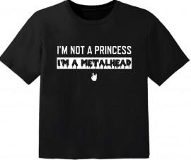 metal baby t-shirt I'm not a princess I'm a metalhead