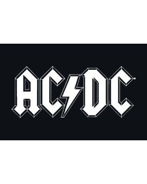 ACDC Baby Grow White Logo