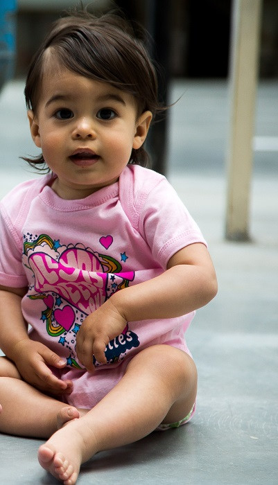 Beatles Baby Grow All You Need Is Love Pink photoshoot