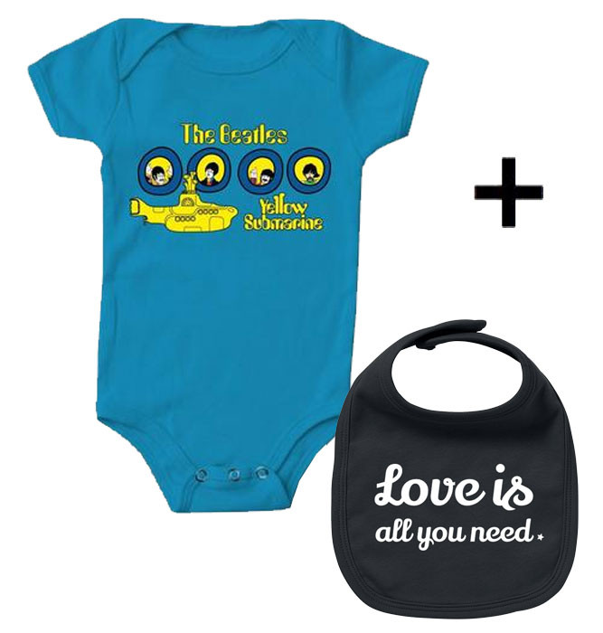 Infant Giftset Beatles Creeper infant/baby & Love is all you Need Bib