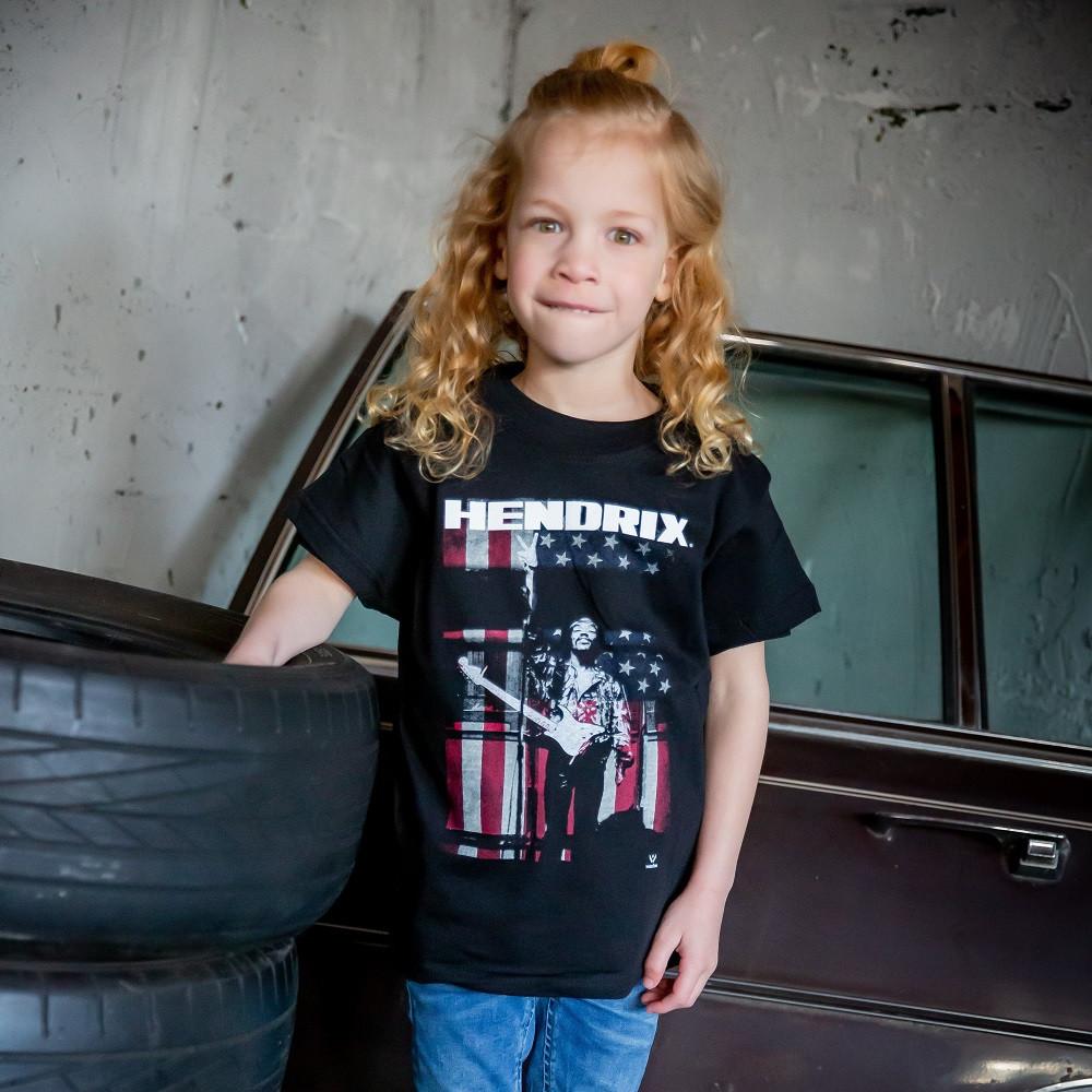 Jimi Hendrix Kids T-shirt Peace Flag fotoshoot