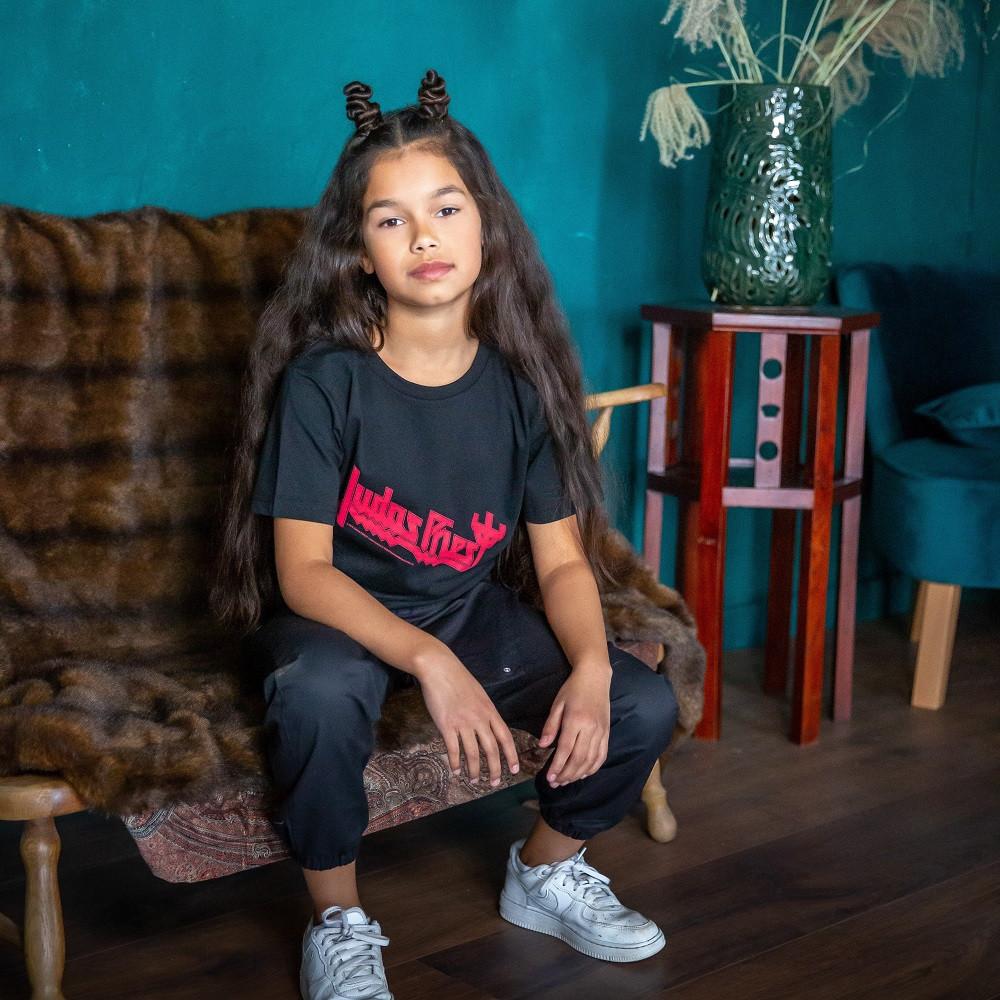 Judas Priest Kids T-Shirt Logo fotoshoot