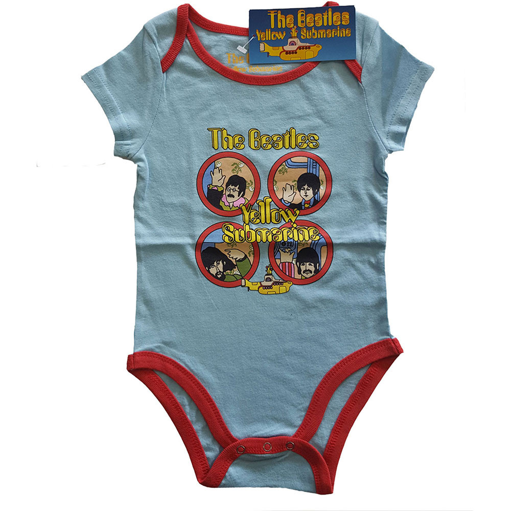 The Beatles Baby Grow Yellow Submarine two-tone