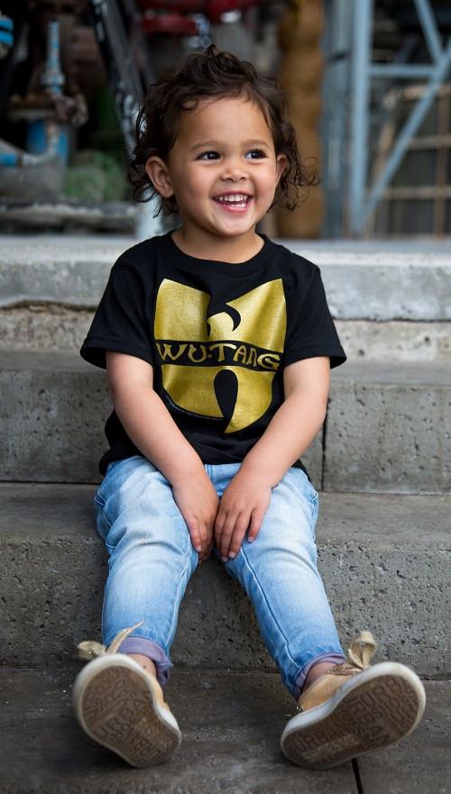 Wu-Tang Clan Kids T-Shirt Logo photoshoot