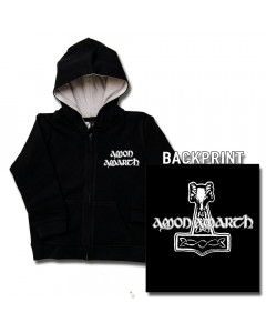 Amon Amarth Kids Hoody Zip Thor's Hammer (print on deman)