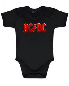 ACDC Baby Grow AC/DC Logo Colour
