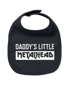 Metal baby bib daddy's little metalhead