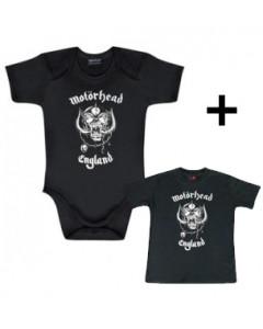 Baby rock giftset Motorhead Baby Grow & Baby T-shirt