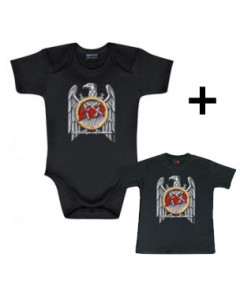 Baby rock giftset Slayer Baby Grow Eagle & Baby T-shirt
