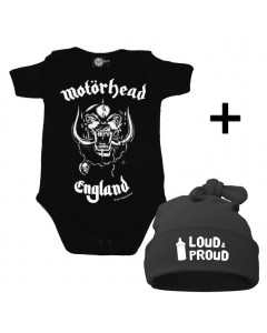 Infant Giftset Motörhead Creeper infant/baby & Loud & Proud Hat