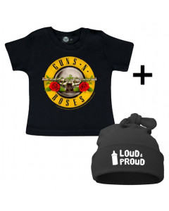 Infant Giftset Guns n' Roses T-shirt infant/baby & Loud & Proud Hat