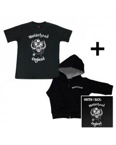 Baby rock giftset Motörhead Baby Hoody zip & Motörhead T-shirt