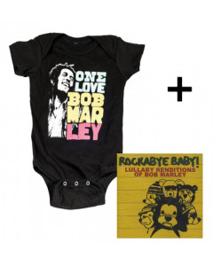 Baby rock giftset Bob Marley Baby Grow Smile & CD