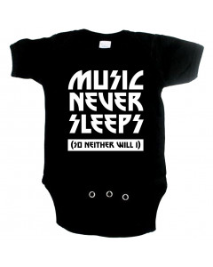 Cool babygrow music never sleeps so neither will I