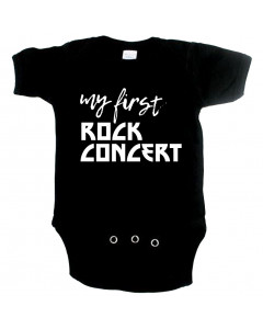 Rock babygrow my first rock concert