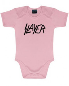 Slayer Baby Grow Logo Pink