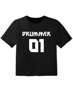 rock baby t-shirt drummer 01