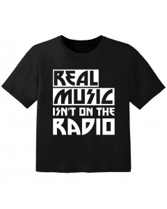 cool baby t-shirt real music isnt on the radio